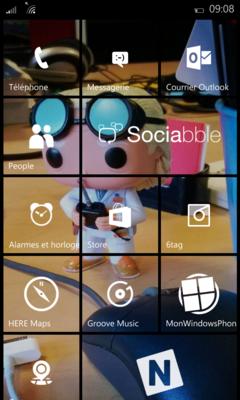 tuiles transparentes smartphone windows